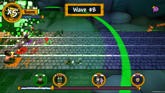 Gameplay (Glitch-Bomb Power-Up)